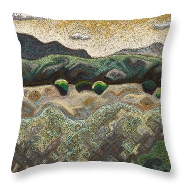 Windy Day Throw Pillow by Dale Beckman