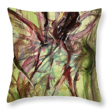 Windy Day Throw Pillow by Ikahl Beckford