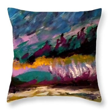 Windy Day On Gulf Islands Throw Pillow