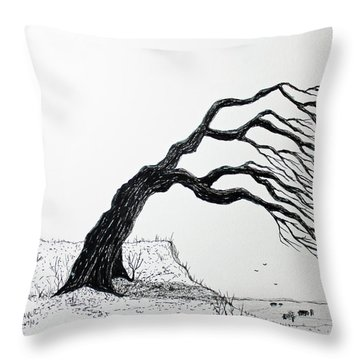 Windy Guide Throw Pillow