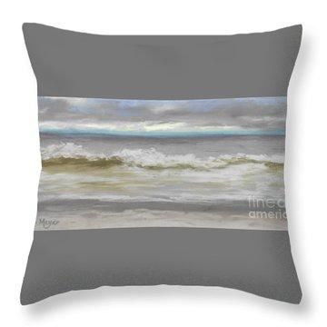 Windy Hill Beach - Myrtle Beach, Sc Throw Pillow by Terri  Meyer