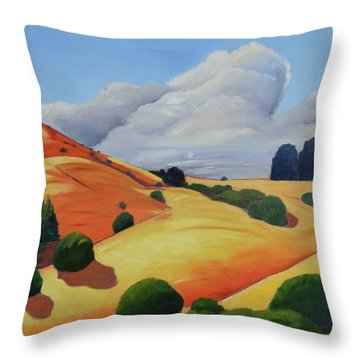 Windy Hill Triptych II Throw Pillow