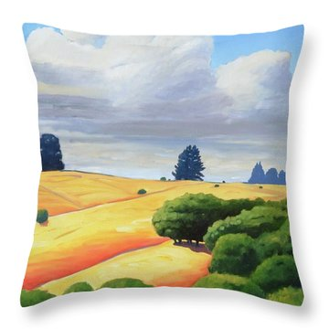 Windy Hill Triptych IIi Throw Pillow by Gary Coleman
