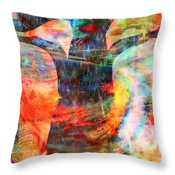 Windy Moments Throw Pillow by Fania Simon