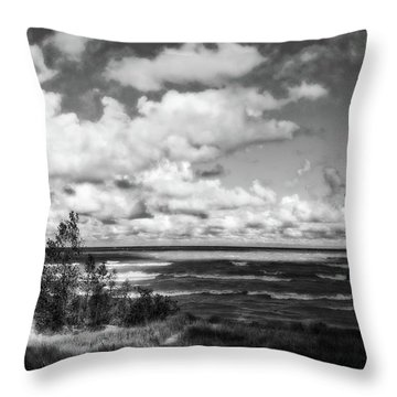 Throw Pillow featuring the photograph Windy Morning On Lake Michigan by Michelle Calkins