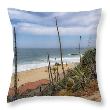 Throw Pillow featuring the photograph Windy On Redondo by Michael Hope