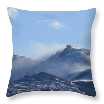 Windy Pikes Peak  Throw Pillow