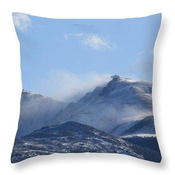 Windy Pikes Peak  Throw Pillow