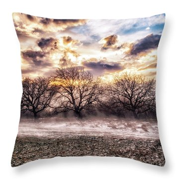 Windy Stories  Throw Pillow