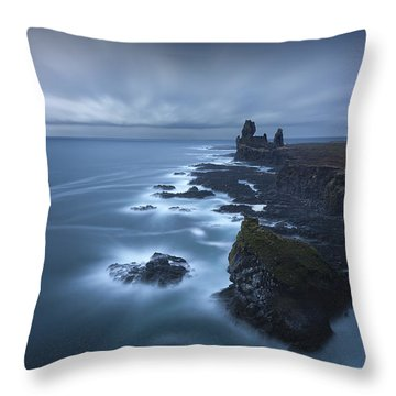 Windy Swirls Throw Pillow