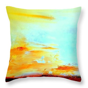 Windy Weather - Blown Away Throw Pillow