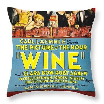 Wine 1924 Throw Pillow