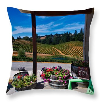 Throw Pillow featuring the photograph Wine A Bit by Laura Ragland