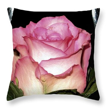 Wine And A Rose Throw Pillow