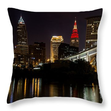 Wine And Gold In Cleveland Throw Pillow