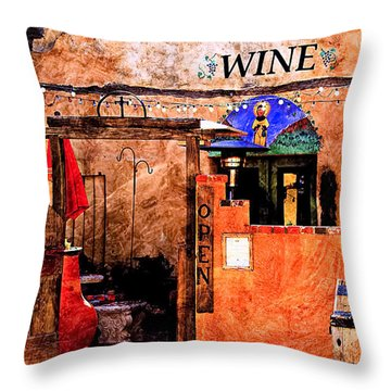 Throw Pillow featuring the photograph Wine Bar Of The Southwest by Barbara Chichester
