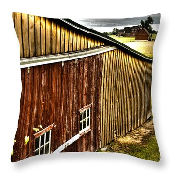 Wine Barn Throw Pillow by William Norton