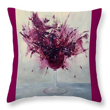 Wine Bouquet Throw Pillow