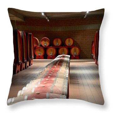 Wine Cellar In Montalcino Throw Pillow