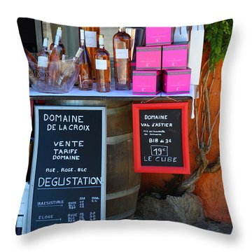 Throw Pillow featuring the photograph Wine Cellar by Richard Patmore