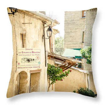 Throw Pillow featuring the photograph Wine Country by Jason Smith
