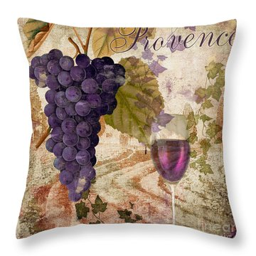 Wine Country Provence Throw Pillow by Mindy Sommers