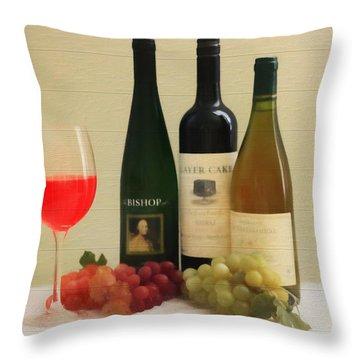 Wine Display Barn Door  Throw Pillow by Dan Sproul