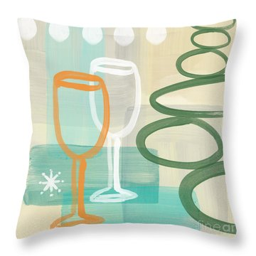 Drink Paintings Throw Pillows
