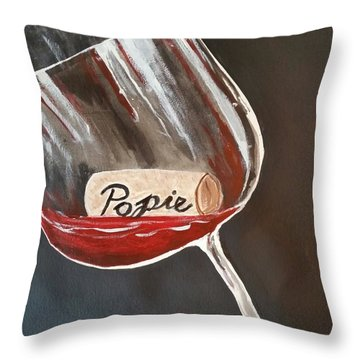 Wine Glass Throw Pillow