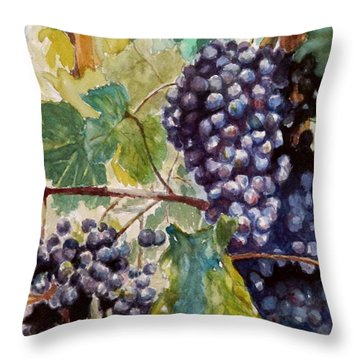 Wine Grapes Throw Pillow