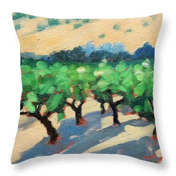 Throw Pillow featuring the painting Wine Habitat by Gary Coleman