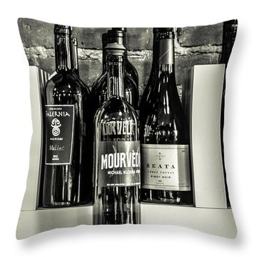 Wine IIi Throw Pillow by Randy Bayne