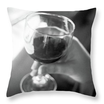 Wine In Hand Throw Pillow