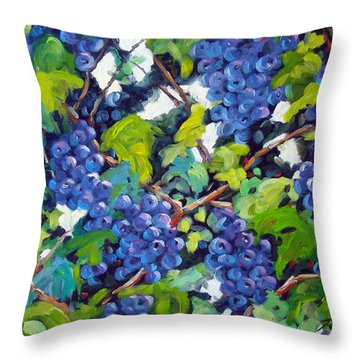 Wine On The Vine Throw Pillow by Richard T Pranke