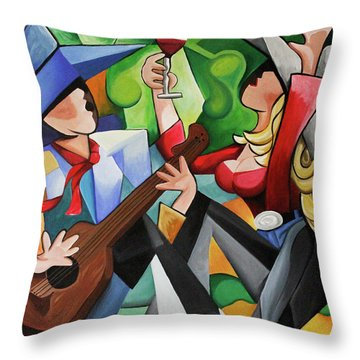 Wine Party Throw Pillow
