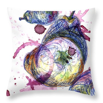 Wine Pearing Throw Pillow