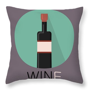 Wine Poster Print - Win And Wine Throw Pillow