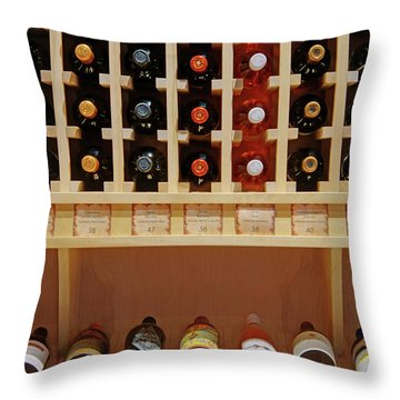 Throw Pillow featuring the photograph Wine Rack - 1 by Nikolyn McDonald