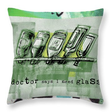 Wine Rack Throw Pillow