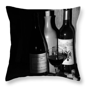 Wine Sampling Throw Pillow by Steven Clipperton