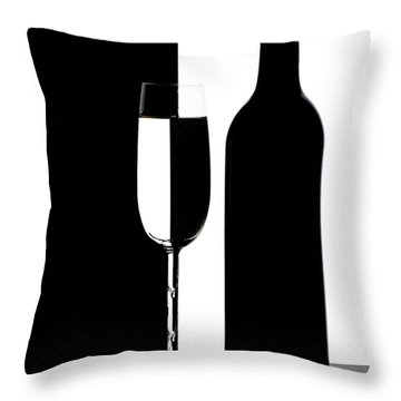 Wine Silhouette Throw Pillow