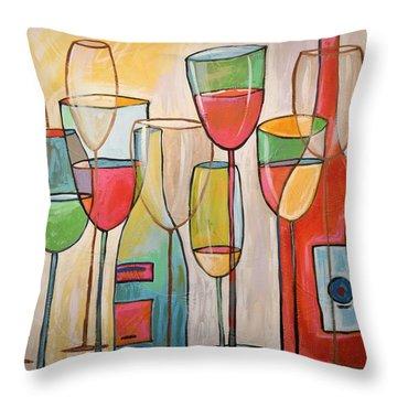 Wine Tasting Throw Pillow