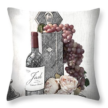 Throw Pillow featuring the photograph Wine Tasting Evening by Sherry Hallemeier