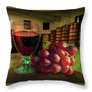 Throw Pillow featuring the photograph Wine Tasting by Hanny Heim