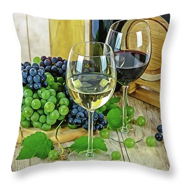 Wine Tasting Throw Pillow
