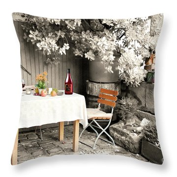 Winelover's Place Throw Pillow