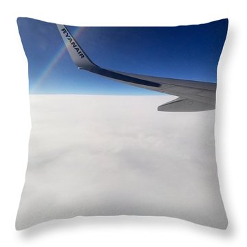 Wing And Sky Throw Pillow