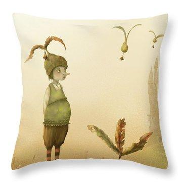 Wing-nut, Morning Bells Throw Pillow