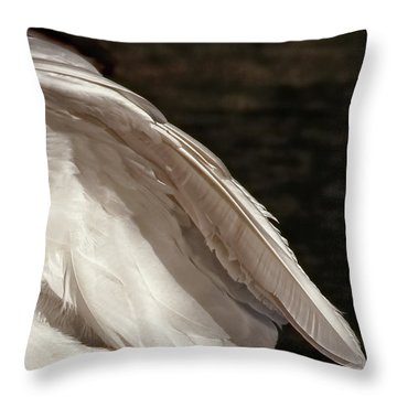 Throw Pillow featuring the photograph Wing Of An Egret by Jennie Marie Schell