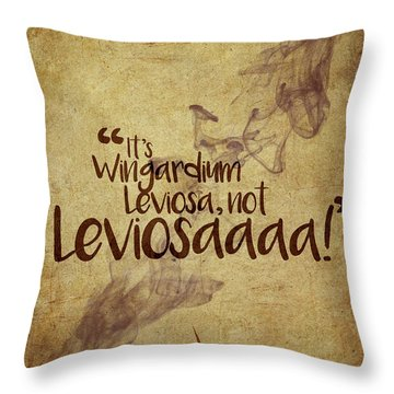 Wingardium Throw Pillow